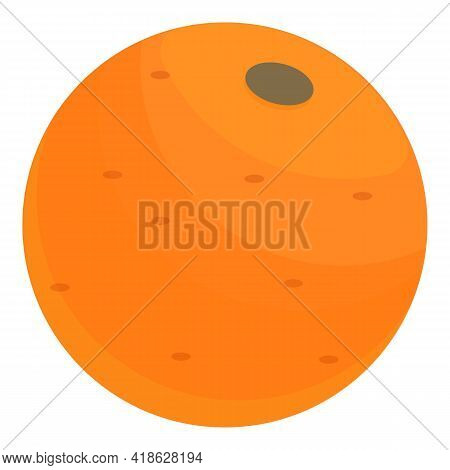 Nutrient Orange Icon. Cartoon Of Nutrient Orange Vector Icon For Web Design Isolated On White Backgr