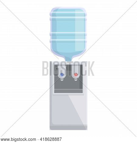 Office Water Equipment Icon. Cartoon Of Office Water Equipment Vector Icon For Web Design Isolated O