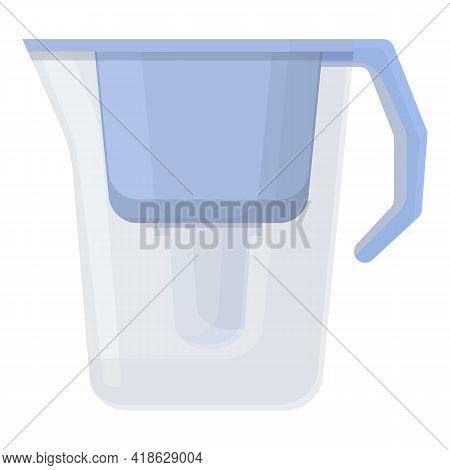 Water Purification Plastic Jug Icon. Cartoon Of Water Purification Plastic Jug Vector Icon For Web D