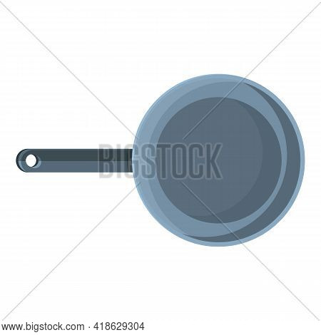 Hiking Frying Pan Icon. Cartoon Of Hiking Frying Pan Vector Icon For Web Design Isolated On White Ba