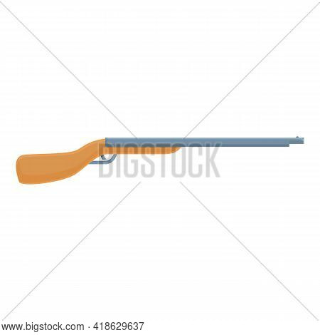 Hunting Rifle Icon. Cartoon Of Hunting Rifle Vector Icon For Web Design Isolated On White Background