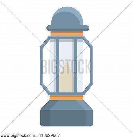 Kerosene Lamp Icon. Cartoon Of Kerosene Lamp Vector Icon For Web Design Isolated On White Background