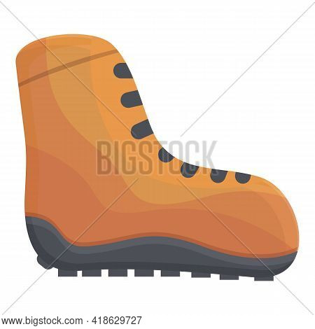 Hiking Boots Icon. Cartoon Of Hiking Boots Vector Icon For Web Design Isolated On White Background