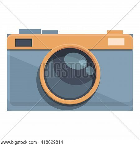 Hiking Camera Icon. Cartoon Of Hiking Camera Vector Icon For Web Design Isolated On White Background