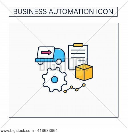 Purchase Orders Color Icon. Automate Purchase Order, Approval Process. Business Automation Concept.i
