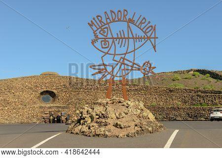 Lanzarote, Spain - 21 January 2021:  Mirador Del Rio On Lanzarote Island In Spain