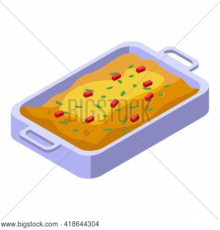 Mashed Potatoes Bakery Icon. Isometric Of Mashed Potatoes Bakery Vector Icon For Web Design Isolated