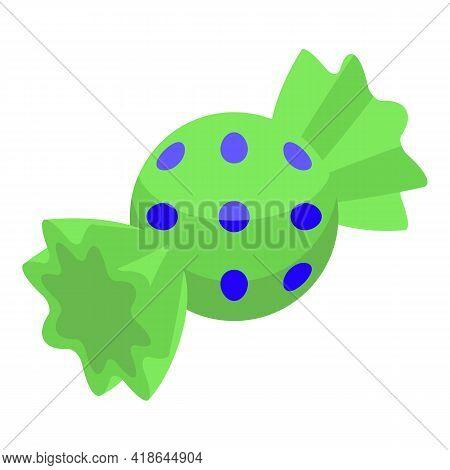 Christmas Candy Bonbon Icon. Isometric Of Christmas Candy Bonbon Vector Icon For Web Design Isolated