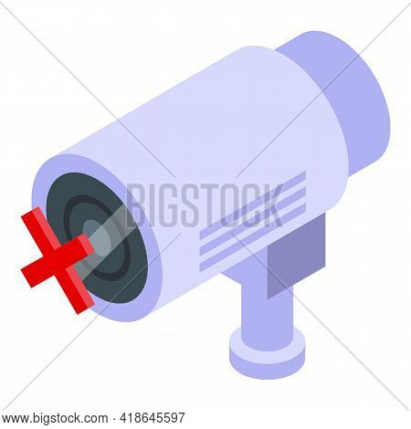 Privacy Camera Icon. Isometric Of Privacy Camera Vector Icon For Web Design Isolated On White Backgr
