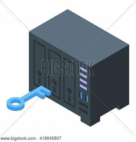 Lock Safe Box Icon. Isometric Of Lock Safe Box Vector Icon For Web Design Isolated On White Backgrou