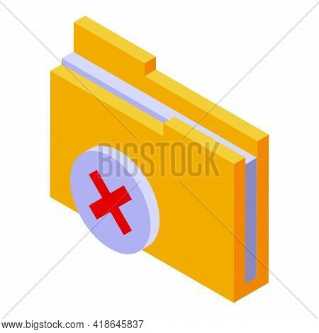 Closed Folder Icon. Isometric Of Closed Folder Vector Icon For Web Design Isolated On White Backgrou