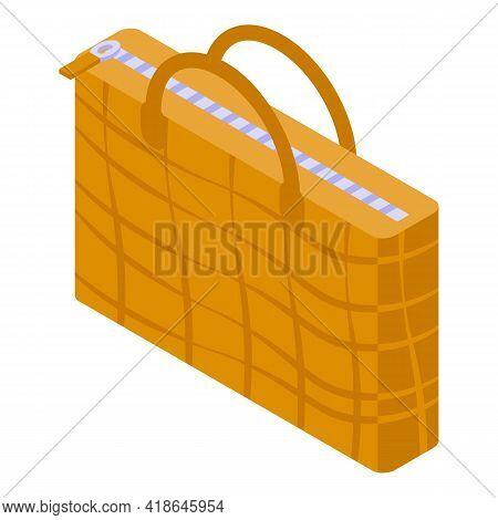 Crocodile Woman Bag Icon. Isometric Of Crocodile Woman Bag Vector Icon For Web Design Isolated On Wh