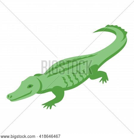 Carnivore Crocodile Icon. Isometric Of Carnivore Crocodile Vector Icon For Web Design Isolated On Wh