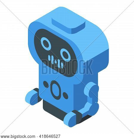 Robot Speech Recognition Icon. Isometric Of Robot Speech Recognition Vector Icon For Web Design Isol