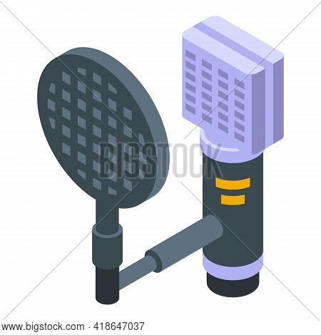 Microphone Speech Recognition Icon. Isometric Of Microphone Speech Recognition Vector Icon For Web D