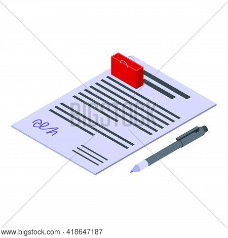 Purchase History Documents Icon. Isometric Of Purchase History Documents Vector Icon For Web Design