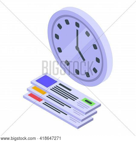 Purchase History Time Icon. Isometric Of Purchase History Time Vector Icon For Web Design Isolated O