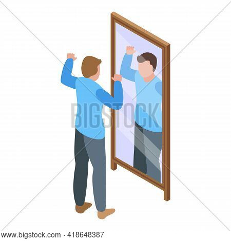 Powerful Self Esteem Icon. Isometric Of Powerful Self Esteem Vector Icon For Web Design Isolated On