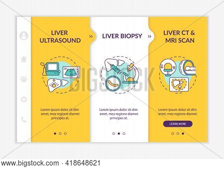 Liver Identifying Onboarding Vector Template. Responsive Mobile Website With Icons. Web Page Walkthr