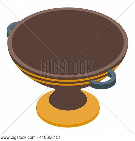 Culture Amphora Icon. Isometric Of Culture Amphora Vector Icon For Web Design Isolated On White Back