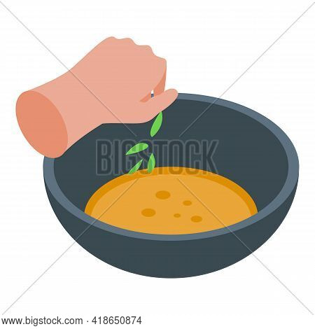 Preparing Soup Icon. Isometric Of Preparing Soup Vector Icon For Web Design Isolated On White Backgr