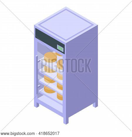 Ripening Cheese Icon. Isometric Of Ripening Cheese Vector Icon For Web Design Isolated On White Back