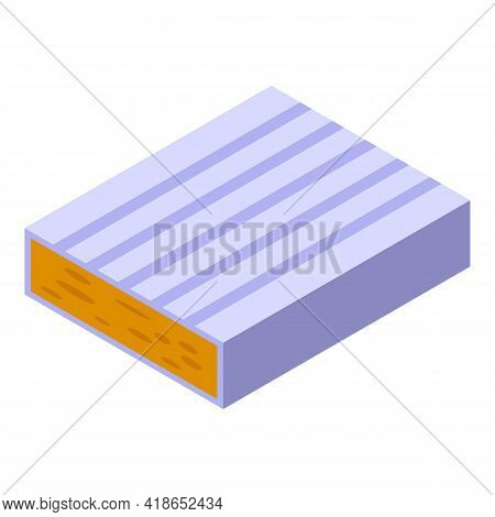 Brie Cheese Icon. Isometric Of Brie Cheese Vector Icon For Web Design Isolated On White Background