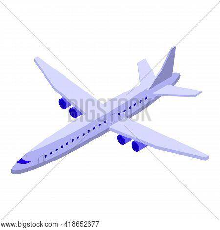 Airline Icon. Isometric Of Airline Vector Icon For Web Design Isolated On White Background