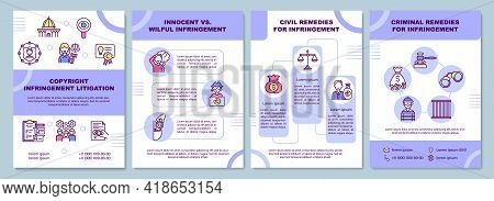 Copyright Infringement Litigation Brochure Template. Innocent. Flyer, Booklet, Leaflet Print, Cover