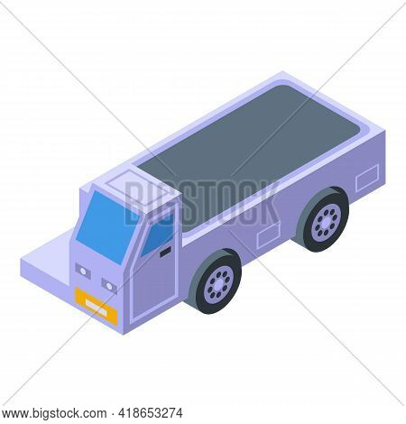 Airport Baggage Vehicle Icon. Isometric Of Airport Baggage Vehicle Vector Icon For Web Design Isolat
