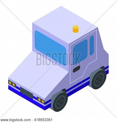 Airport Service Auto Icon. Isometric Of Airport Service Auto Vector Icon For Web Design Isolated On