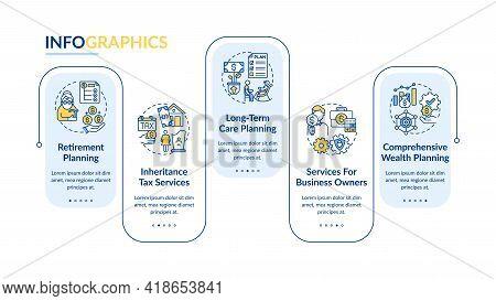 Wealth Guidance Vector Infographic Template. Retirement, Long-term Care Plan Presentation Design Ele