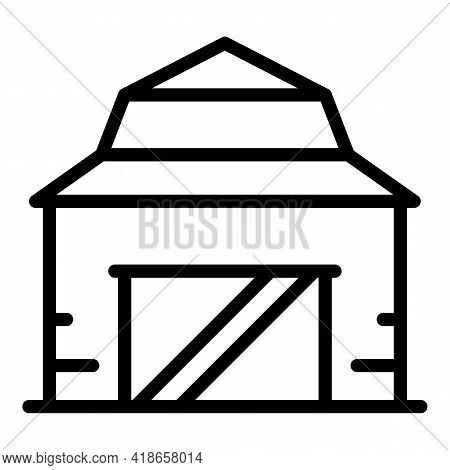 Ranch Building Icon. Outline Ranch Building Vector Icon For Web Design Isolated On White Background
