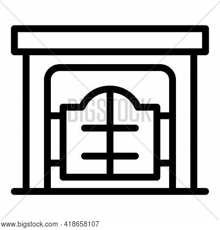 Ranch Gate Icon. Outline Ranch Gate Vector Icon For Web Design Isolated On White Background