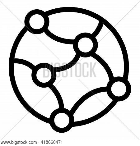 Global Internet Network Icon. Outline Global Internet Network Vector Icon For Web Design Isolated On