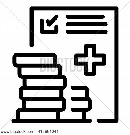 Medical Compensation Icon. Outline Medical Compensation Vector Icon For Web Design Isolated On White