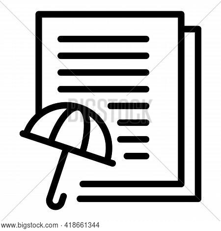 Insurance Compensation Icon. Outline Insurance Compensation Vector Icon For Web Design Isolated On W