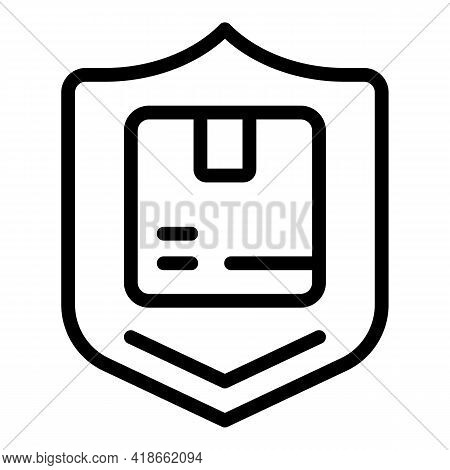Liability Parcel Icon. Outline Liability Parcel Vector Icon For Web Design Isolated On White Backgro