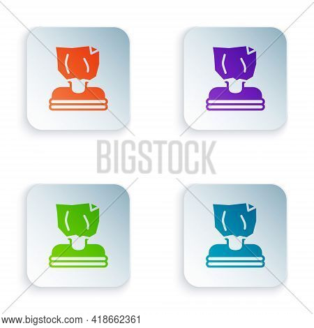 Color Kidnaping Icon Isolated On White Background. Human Trafficking Concept. Abduction Sign. Arrest