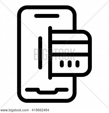 Smartphone Payment Cancellation Icon. Outline Smartphone Payment Cancellation Vector Icon For Web De