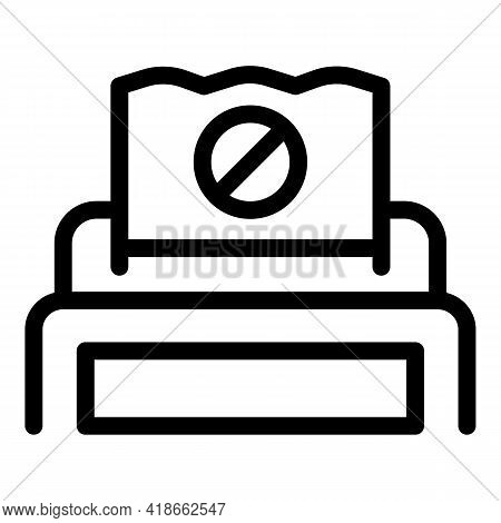 Machine Payment Cancellation Icon. Outline Machine Payment Cancellation Vector Icon For Web Design I