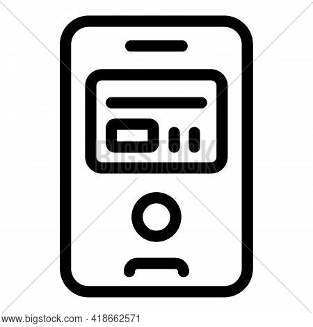 Bank Payment Cancellation Icon. Outline Bank Payment Cancellation Vector Icon For Web Design Isolate
