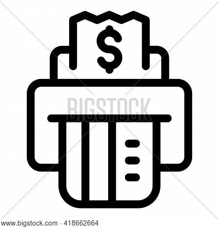 Atm Payment Cancellation Icon. Outline Atm Payment Cancellation Vector Icon For Web Design Isolated