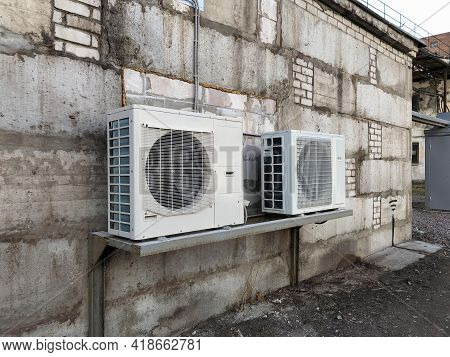 The Part Of The Air Conditioner Containing The Compressor Is Taken Out To The Outside In The Product