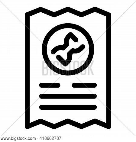 Payment Bill Reject Icon. Outline Payment Bill Reject Vector Icon For Web Design Isolated On White B