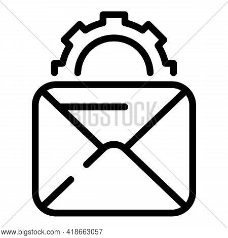 Rush Job Mail Icon. Outline Rush Job Mail Vector Icon For Web Design Isolated On White Background