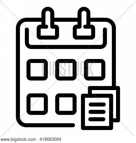 Rush Job Calendar Icon. Outline Rush Job Calendar Vector Icon For Web Design Isolated On White Backg