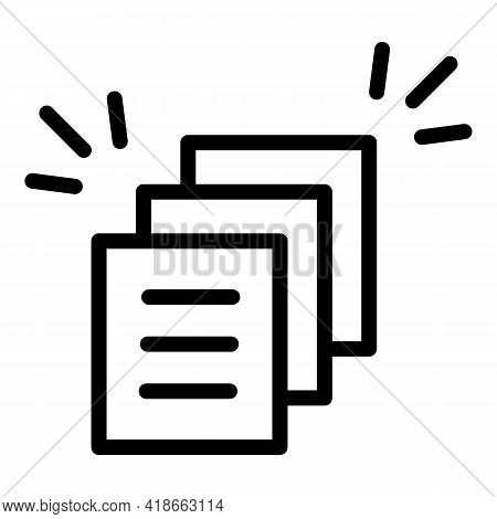 Rush Job Documents Icon. Outline Rush Job Documents Vector Icon For Web Design Isolated On White Bac