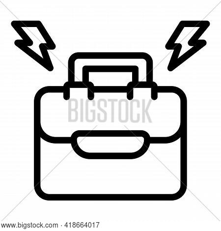 Rush Job Case Icon. Outline Rush Job Case Vector Icon For Web Design Isolated On White Background