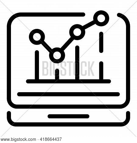 Result Money Monitor Icon. Outline Result Money Monitor Vector Icon For Web Design Isolated On White